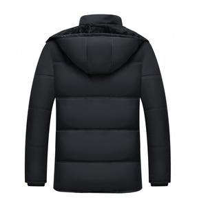 Image 4 - Mwxsd 브랜드 겨울 남성 두꺼운 따뜻한 파카 재킷과 코트 남자 두꺼운 패딩 모피 코트 남성 스탠드 칼라 오버 코트