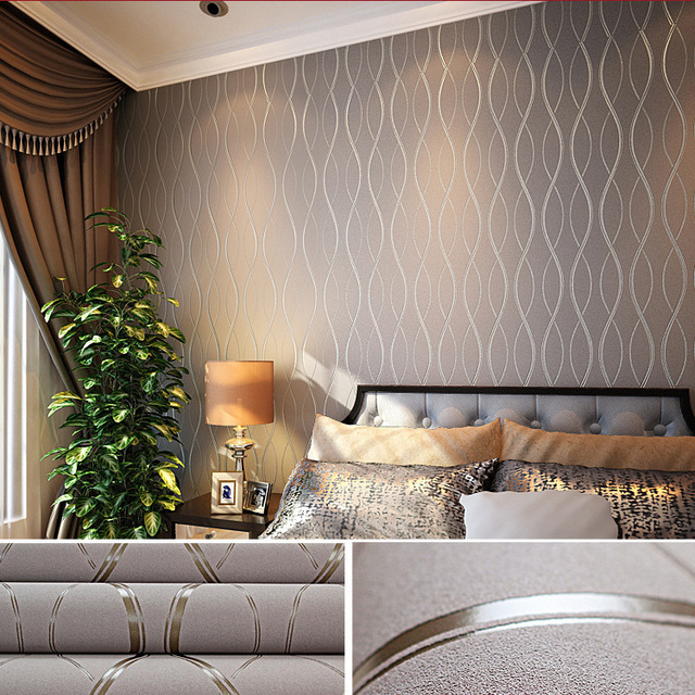 ZXqz 65 Many Colors 10M Luxury Embossed Textured Wallpaper Non-woven Decal Wall Paper Rolls for Living Room Bedroom Decoration