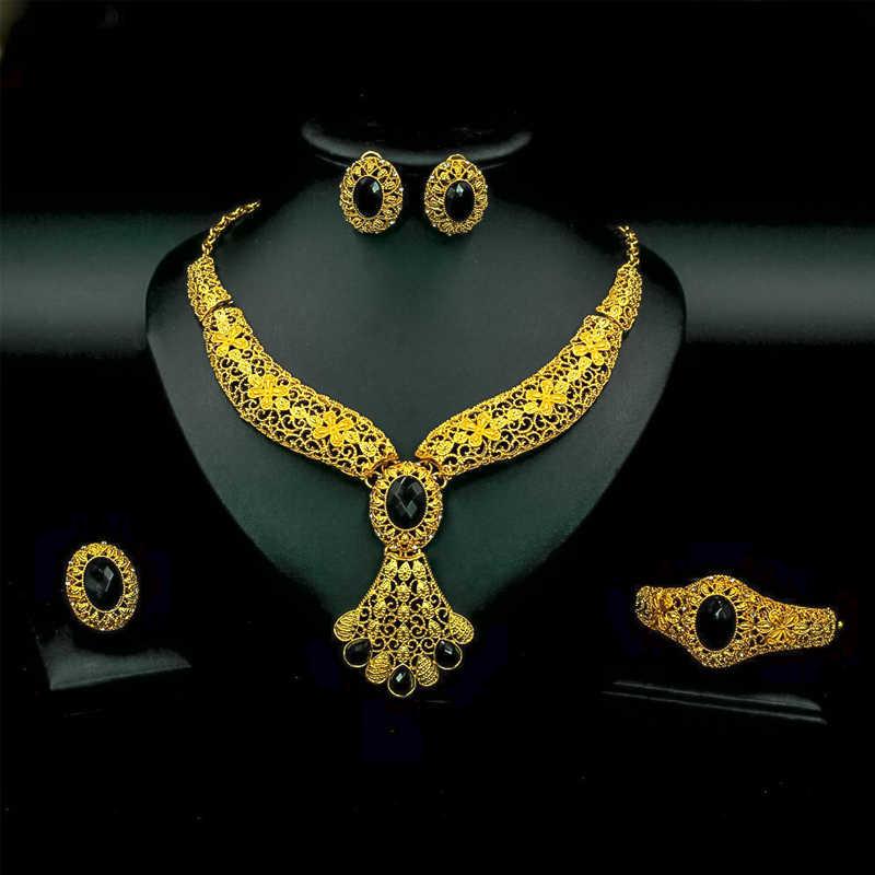 Liffly Mode Braut Schmuck Set Frauen Geschenke Dubai Gold Hochzeit Afrikanische Perlen Schmuck Set Marke Halskette Zubehör