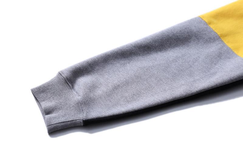 Color Block Patchwork Fleece Hoodies 8