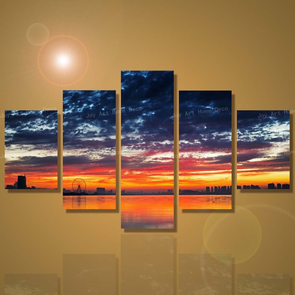 Large Wall Pictures for Living Room Seascape Painting Posters and Prints Modern Wall Art Unframed-in Painting u0026 Calligraphy from Home u0026 Garden on ... & Large Wall Pictures for Living Room Seascape Painting Posters and ...
