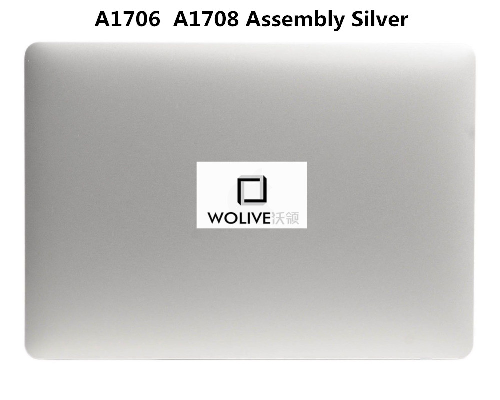 A1706 A1708 Silver Full assembly 100% New For Macbook Pro Retina 13 A1706 A1708 2016 LCD Screen Complete Assembly original new a1708 lcd assembly for macbook pro retina 13 a1708 full lcd panel display assembly 2016 2017 year emc2978 emc3164