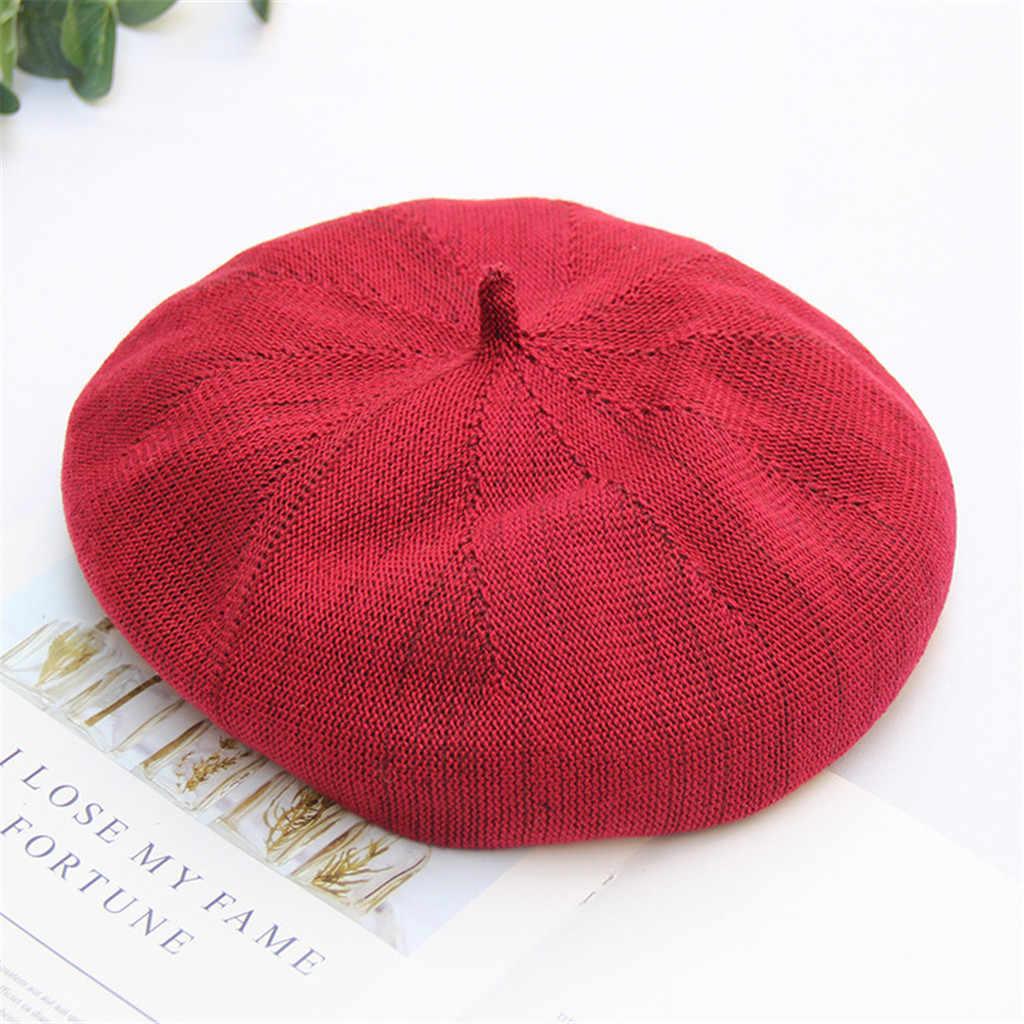 Женская Соломенная шляпка, Пляжная, большой край, шляпа, повседневная, берет, шляпа, французский стиль, шапочка, однотонная бейсболка, шапка для женщин и девочек, семь цветов s
