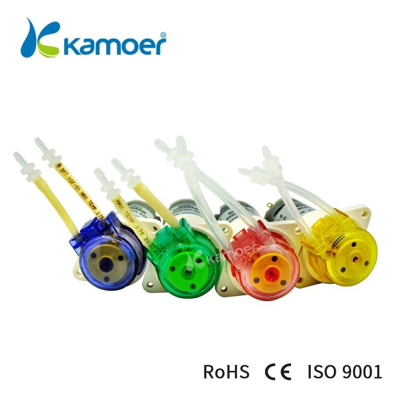 Kamoer KFS мини 6 В/12 В/24 В перистальтический насос маленький водяной насос с высокой точностью и двигатель щетки постоянного тока