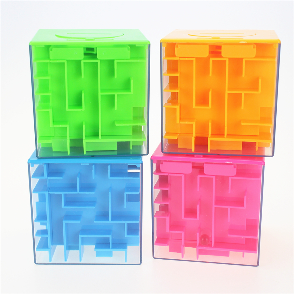 4 colors Maze Magic Cube Puzzle 3D Mini Speed Cube Labyrinth Rolling Ball Toys Puzzle Game Gifts Educational Toys for Children ...
