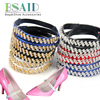 BSAID High Heel Shoes Accessories Crystal Bondage Elastic Strap For Women Shoes Wave Rhinestone Shoe Decorations Shoe Charms NEW