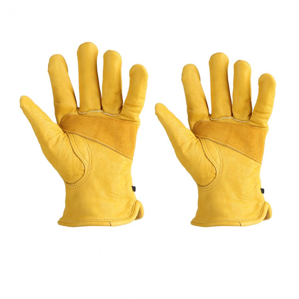 1Pair Leather Garden Gloves Working Protection Gloves Garden Labor Gloves Gardening Tools.