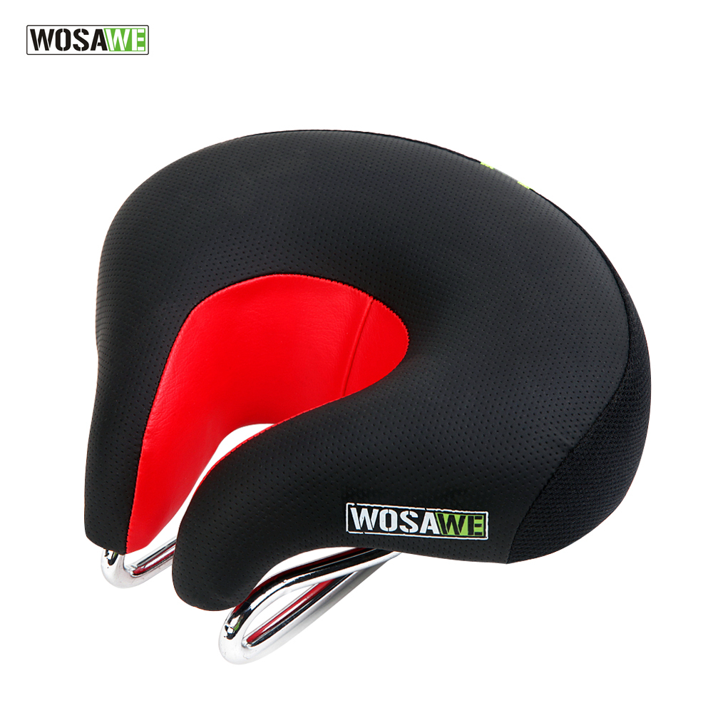 WOSAWE MTB Mountain Road Bike <font><b>Seat</b></font> Skidproof Soft Silica Bicycle Saddle Bicicleta Cushion Comfortable Wide Bicycle Accessories