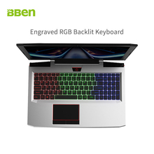 BBEN laptop for gaming 15.6inch fast running 32GB/256GB SSD+2TB HDD 1920×1080 FHD wifi IPS screen i7 7700HQ notebook