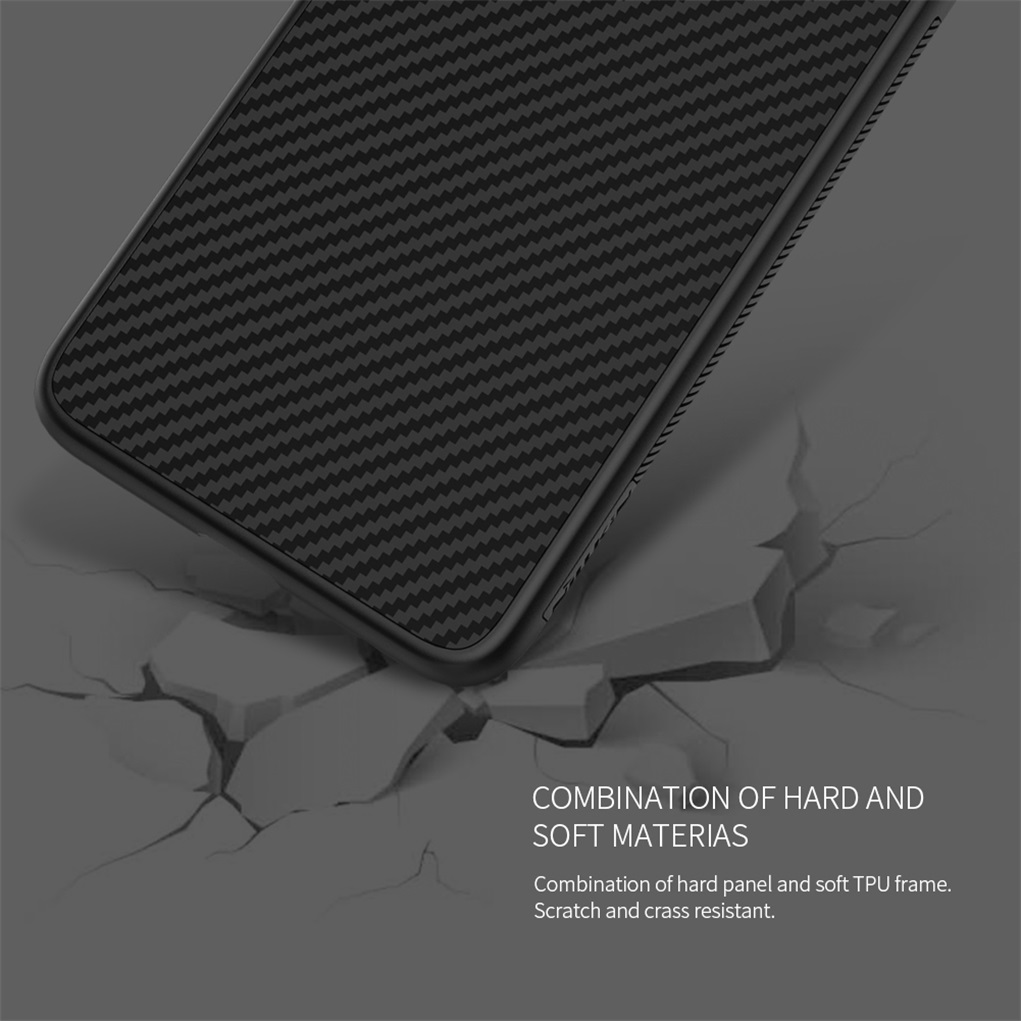 for Huawei Mate 20 Pro case NILLKIN Synthetic fiber Hard Carbon PP Plastic Back Cover For huawei mate 20 / mate 20 Pro cases