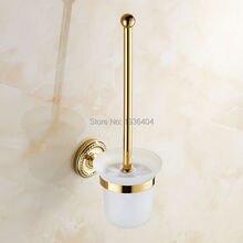 Золотой отделкой ванной комнаты туалет очистки щетки стены mounte с керамической обладатель кубка TH501