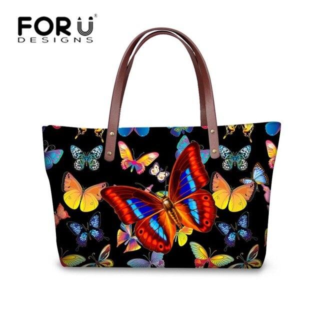 7cd5ae0f38d01 Forudesigns 2017 أحدث النساء حقائب ماركة حلوة 3d فراشة كبيرة حمل الحقائب  النسائية الكتف أكياس الفتيات