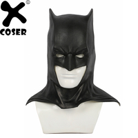 XCOSER Justice League Batman Halloween Half Face Latex Mask Movie Superhero Cosplay Carnival Prop Party Accessory For Adult