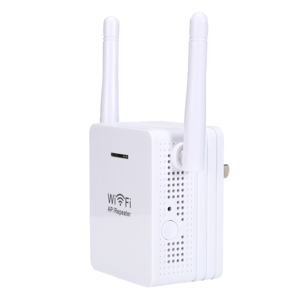 2.4Ghz 300Mbps Wireless Repeater Network Extender Mini Wifi Router Signal Booster Range Amplifier with External 2*5dBi Antenna