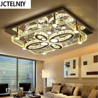 Bubble Crystal Column Living Room Lamps Rectangle Modern Brief Led Ceiling Light Lighting App Control 3