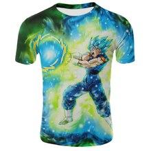 Harajuku de la bola del dragón del 3d anime camiseta para hombres camiseta hip-hop camisetas 2019 japonés para los hombres ropa Vintage ropa
