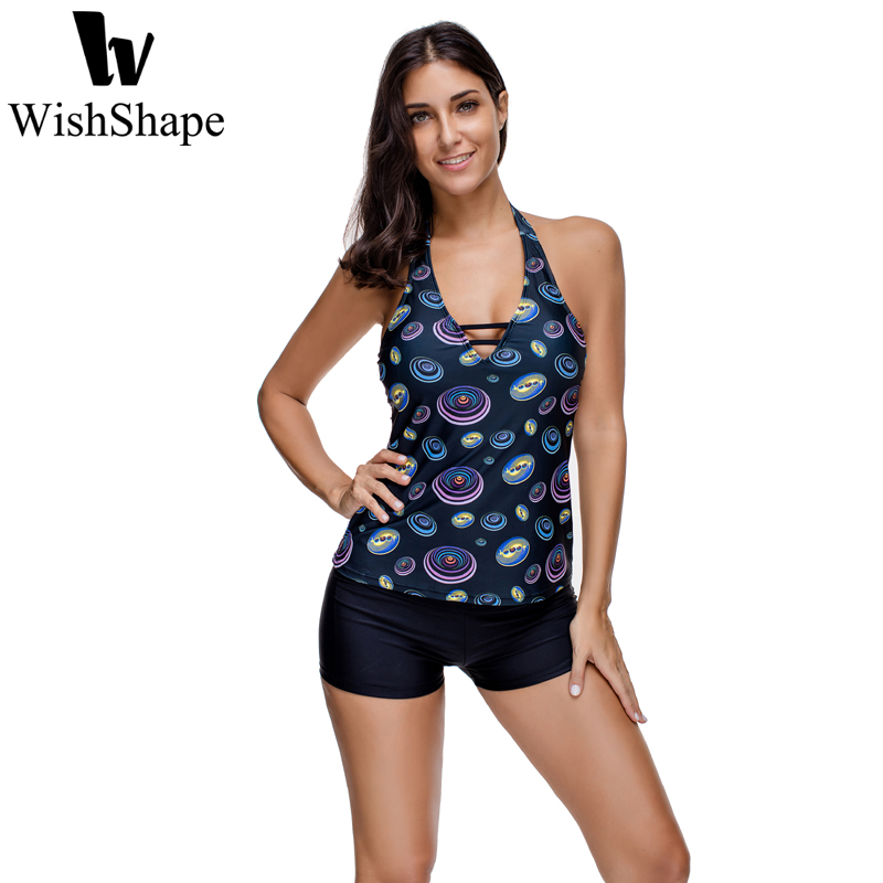Sexy V Neck Two Pieces Swimsuit Push Up Print Bathing Suit Summer 2017 Beach Swimwear Wo ...