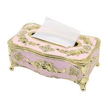 Европейская коробка для салфеток, коробка для хранения бумажных полотенец, контейнер для салфеток, Настольный органайзер для дома, автомобиля, роскошные аксессуары KTV