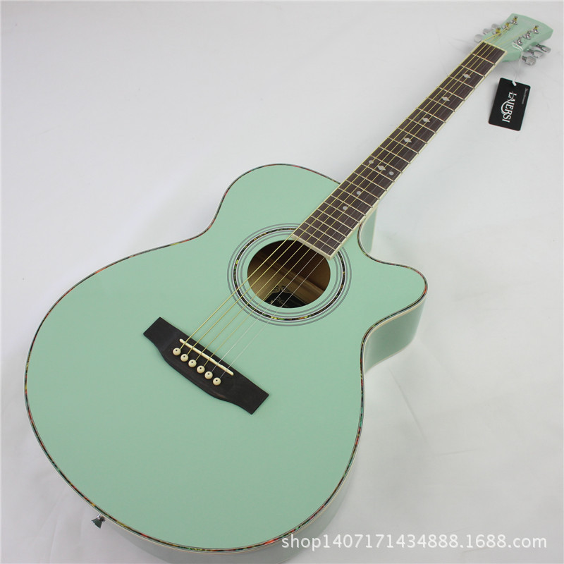 Mint Color Acoustic GuitarColorPrintable Coloring Pages Free