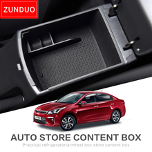 ZUNDUO Car central armrest box for For kia RIO4 X-Line RIO 2017-2018  Interior Accessories Stowing Tidying
