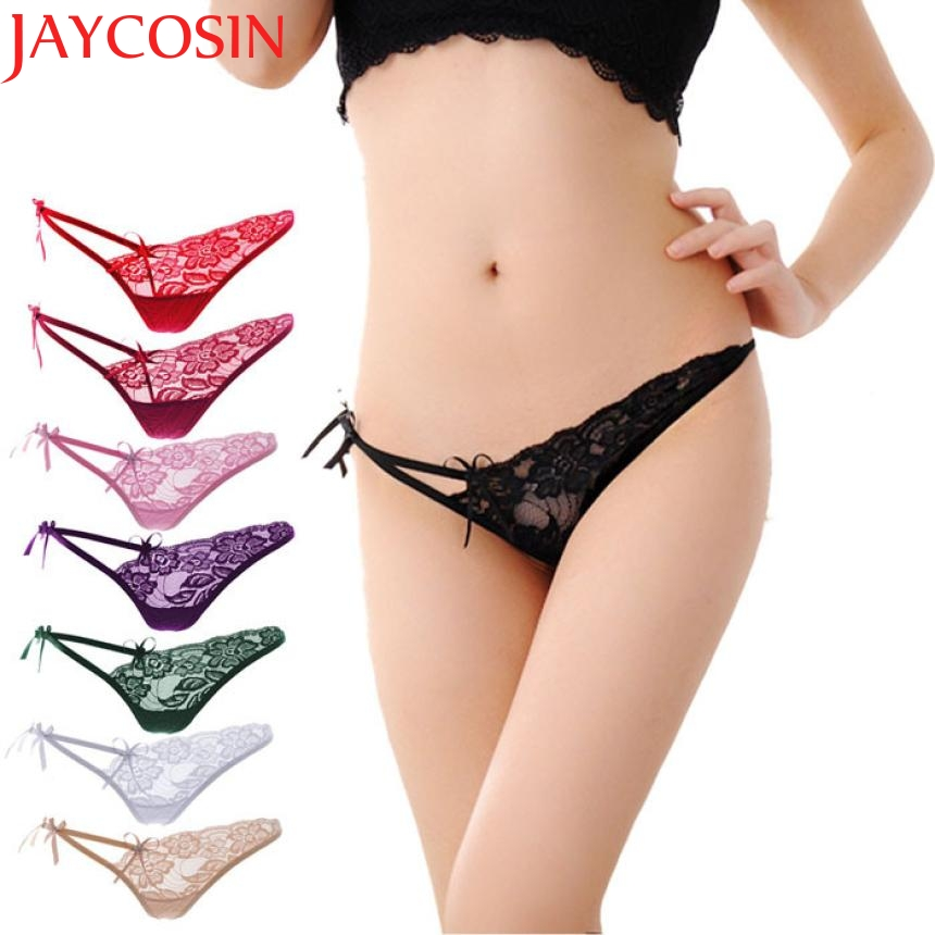 JAYCOSIN New Fashion 2017 Womens Sexy Lace V-string Briefs   Panties   Thongs G-string Lingerie Underwear Drop Shipping