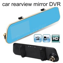 Car 4.3″ inch LCD Rearview Mirror DVR Full HD camcorder auto dash cam video recorder 170 degree wide viewing angle