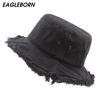 2020 eagleborn 클래식 남성 여성 커플 양동이 모자 모자 가을 겨울 봄 어부 파나마 면화 패브릭 들어 갔어 모자|양동이 모자|   -