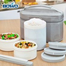 Bento box set stainless steel vacuum microwave oven heating lunch box 1.0L   free shipping цена
