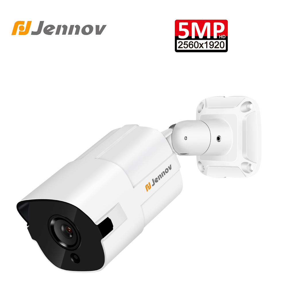 Jennov 5MP caméra ip hd ONVIF Vidéo Surveillance caméra de sécurité CCTV Extérieure POE H.265 NVR Étanche IP66 Métal Shell H.265