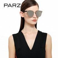 PARZIN Cat Eye Sunglasses Brand Designer Sun Glasses For Driving Coating Mirror Glasses Unisex Travel Shades