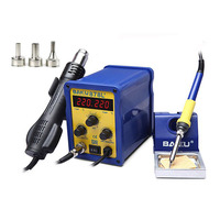 1pc BAKU BK 878L2 led digital Display SMD Brushless Hot Air Rework Station + Soldering Iron and Heat Gun for Cell Phone Repair