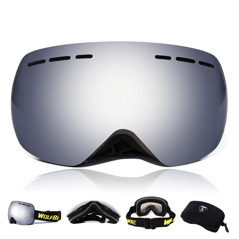 WOLFBIKE Outdoor Windproof Glasses Ski Goggles Snowboarding Skate Goggles Anti fog Snow Skiing Sun Glasses Eyewear