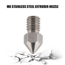 ФОТО 5pcs 3d printer nozzle m6 stainless steel extruder nozzle print head threaded nozzle for 1.75mm filament