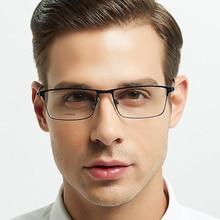 ELECCION Titanium Alloy Glasses Frame Men Ultralight Square Myopia Prescription Eyeglasses Metal Full Optical Screwless Eyewear