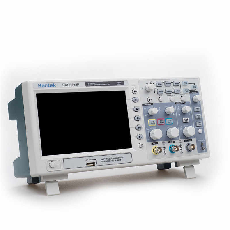 Oscilloscope Hantek DSO5202P stockage numérique Oscilloscope 200MHz 2 canaux 1GSa/s LCD longueur d'enregistrement 40K USB Oscilloscope
