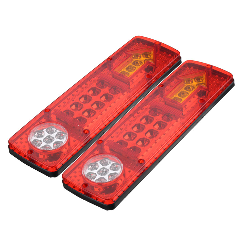 2x 12V 19 LED Trailer Truck Rear Tail Brake Stop Rear Reverse Auto Turn Light Indicator Reverse Lamp Turn Signal Lamp 12v 3 pins adjustable frequency led flasher relay motorcycle turn signal indicator motorbike fix blinker indicator p34