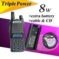 Baofeng UV-82HX UHF/VHF Dual Band 136-174/400-520 МГц Хэм Двусторонней Радиосвязи GT-3 MarkII Walkie Talkie + Дополнительный Аккумулятор + кабель для программирования