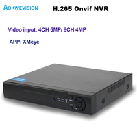 Aokwevision New Arrival XMeye Onvif 4ch H 265 NVR Network Video Recorder Support 5MP And 4MP