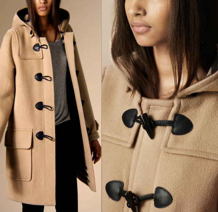 Fasicat High Quality Womens Duffle Coat Long Turn Down Collar ...