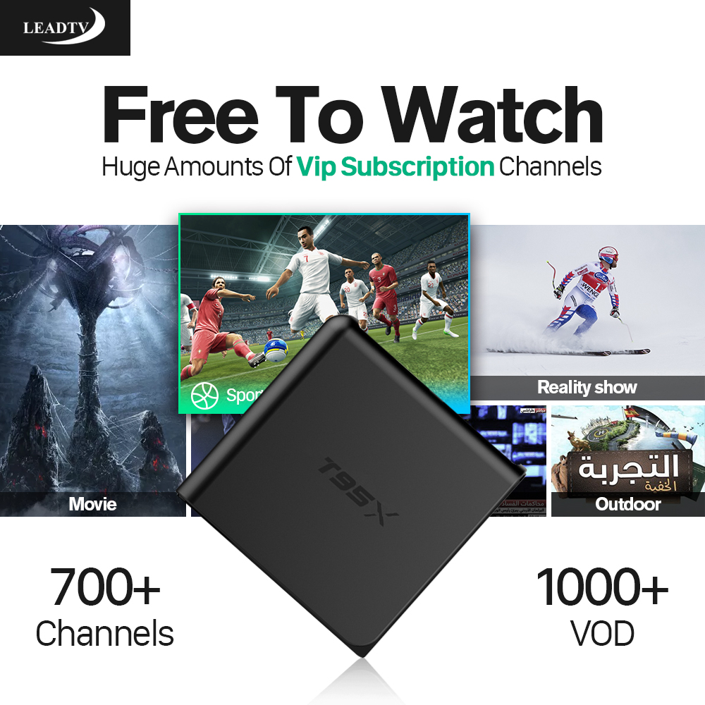 Dalletektv T95X Android TV Box S905X 1G 8G 700+Live Channels iptv Europe italia French Subscription 1 year Arabic Media Player x92 android iptv box s912 set top box 700 live arabic iptv europe french iptv subscription 1 year iptv account code