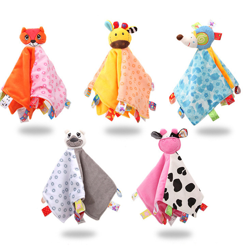 Baby Toys Appease Towels Soothe Sleeping Animal Patterned Mini Blanket Kid/'s Toy
