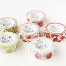 Washi tape cute 7m washi fruit peach wide flower fita adesiva colorida stickers scrapbooking cosas kawaii floral old xian