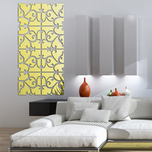 цена на 2015 new 3d mirror wall stickers acrylic sticker adesivo de parede home decor modern large decoration butterfly  free shipping