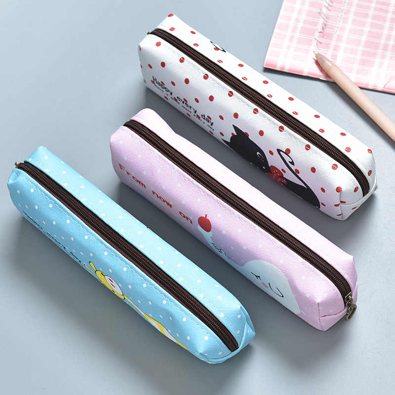 MIRUI Linda Caneta Simples Sacos de Caixa de Lápis Crianças Papelaria caixa de Lápis Da Lona Sacos de Escola Bonito Dos Desenhos Animados Presentes