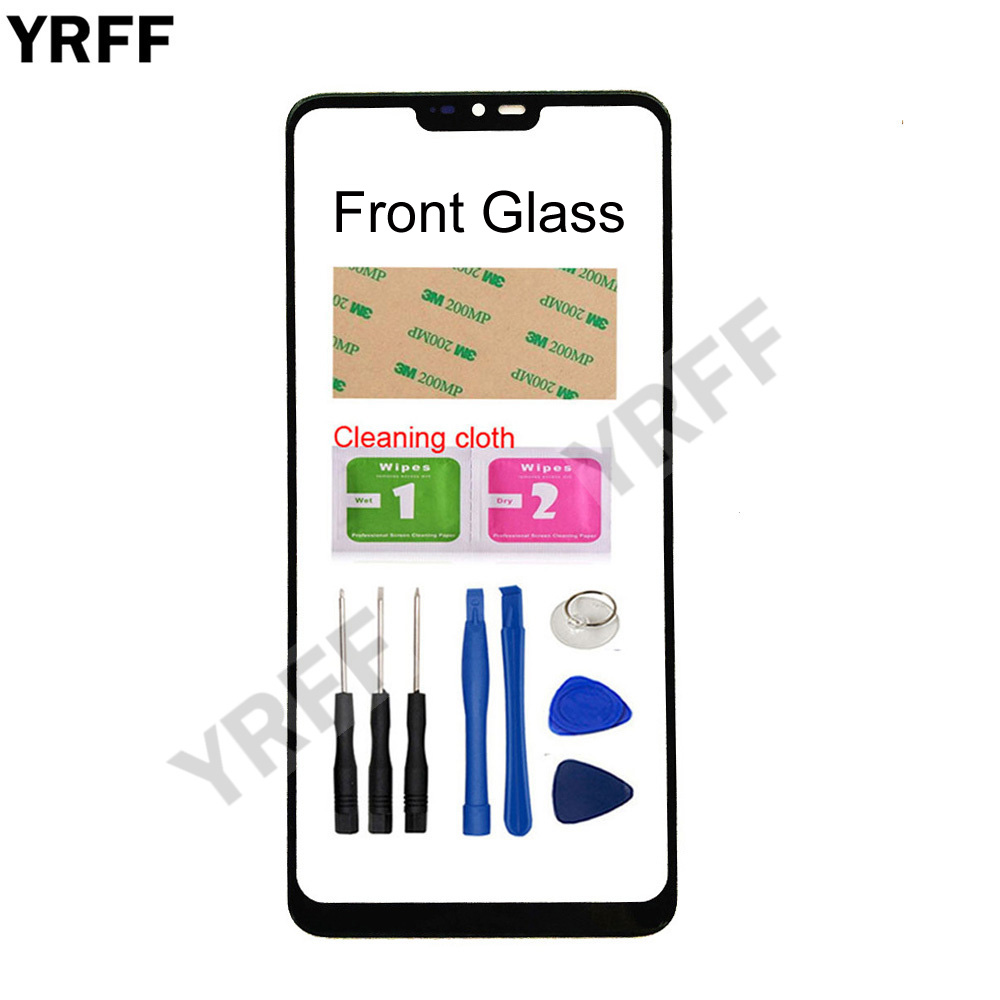 YRFF No Mobile Touch Screen Outer Glass For LG G7 Front Glass Panel Replacement