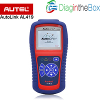 Autel AutoLink AL419 One Click I/M Retrieves Generic MIL Clears Codes and Resets Monitors, OBDII EOBD & CAN Code Reader Scanner
