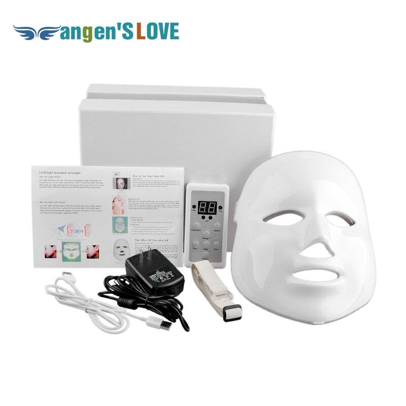 NEW Coreano Fotodinâmica LED Máscara Facial Uso Doméstico Instrumento de Beleza Anti acne Rejuvenescimento Da Pele Fotodinâmica LED Beleza Máscara Facial