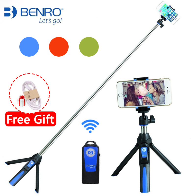 Benro MK10 Handheld & Tripod Combo Selfie Stick with Bluetooth Remote & GoPro Adapter For iPhone 7 Sumsang Galaxy Huawei Gopro