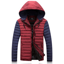 Winter Jacket Men Hat Detachable Warm Coat Cotton-Padded Outwear fat Mens Coats Jackets Hooded Collar Slim Clothes Thick Parkas