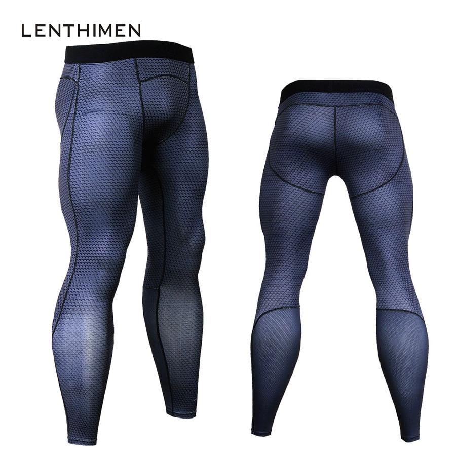 Plus Size 3XL Joggers Men 3D Compression Pants Bodybuilding Trousers MMA High Elasticity Skinny Leggings New Crossfit Sweatpants
